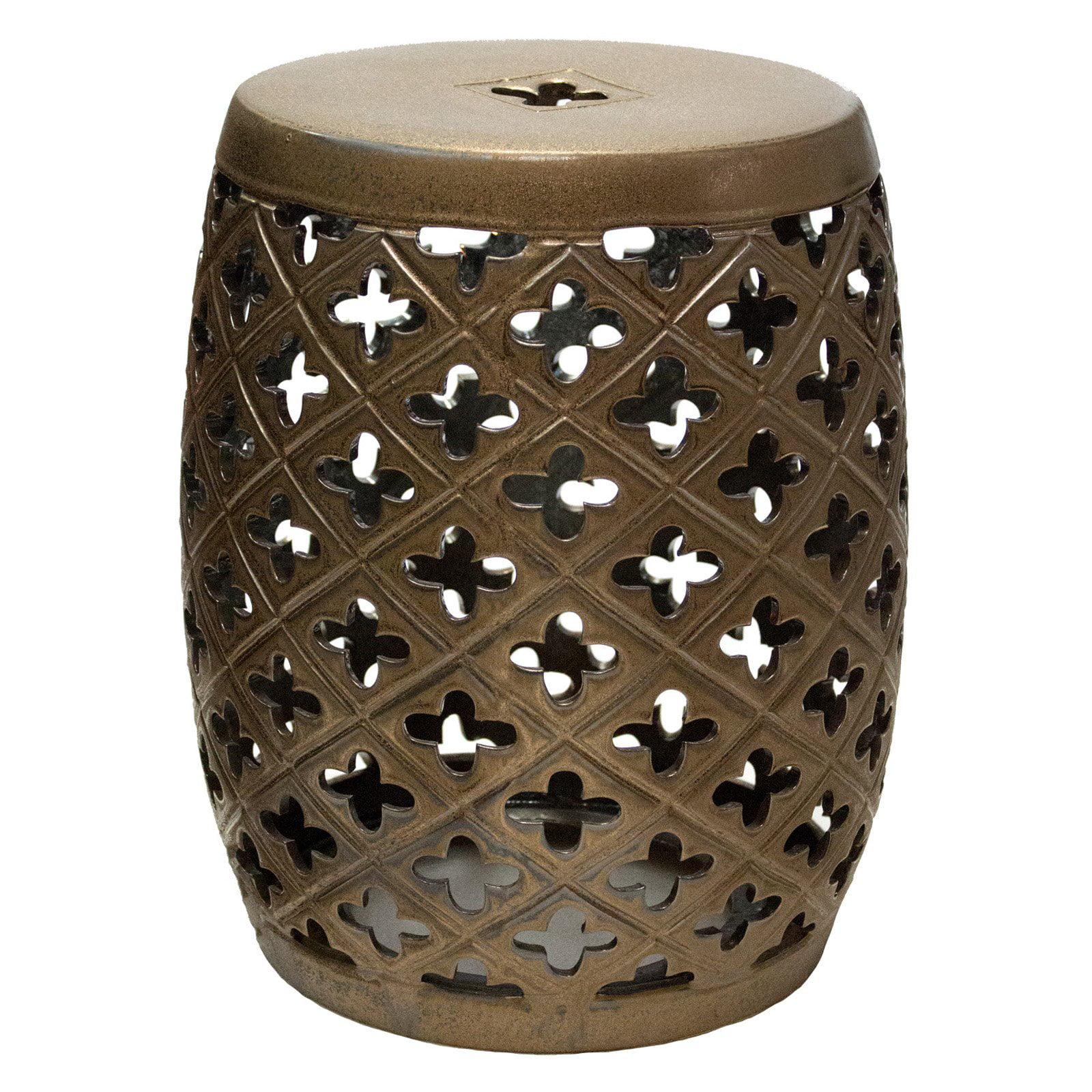 Ceramic Barrel Garden Stool