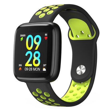 DIGGRO Smart Watch, Waterproof Fitness Activity Tracker with Heart Rate Monitor, Wearable Oxygen Blood Pressure Wrist Watch, Bluetooth Running GPS Tracker Sport Band(Green) (Wrist Heart Rate Monitor Gps)