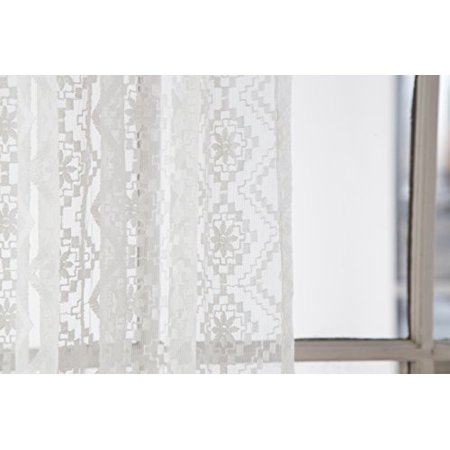 Lace Euro Pillow Cover 26x26 (Cover Only) by North End Décor, Sheer Diamond