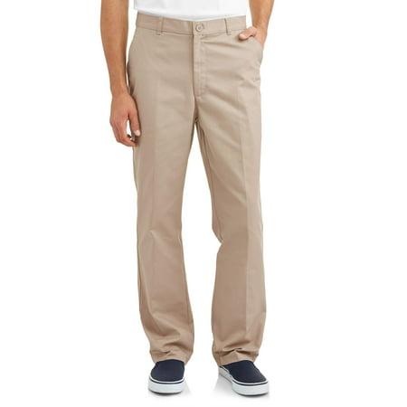 Real School Uniforms Young Men's Flat Front Pant