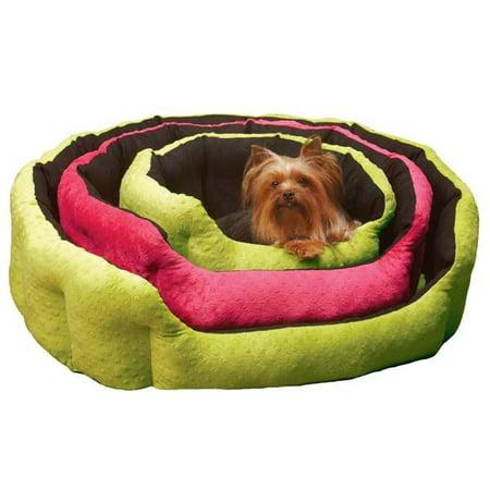 Slumber Pet Dimple Reversible Plush Nesting Dog Bed