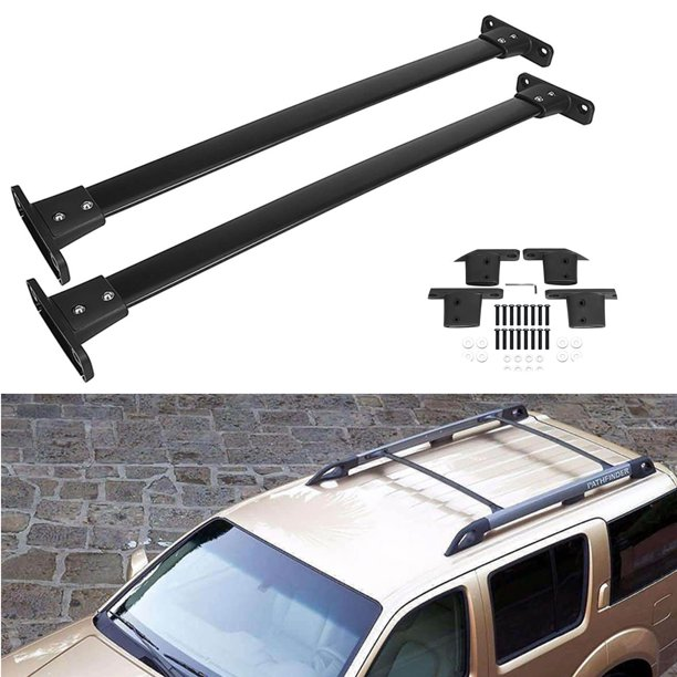 Beamnova 2pcs Black 36 Roof Rack Cross Bar Top Rail Luggage Racks Carrier Crossbars For Nissan Pathfinder 2005 2006 2007 2008 2009 2010 2011 2012 Walmart Com Walmart Com