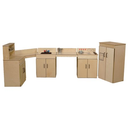 Wood designs classic 4 piece appliances kitchen set for Kitchen set classic