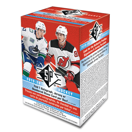 2019-20 Upper Deck SP Hockey NHL Trading Cards- Blaster Box- 40 Cards total | Find Autographs and Memorabilia | 2019-20 rookie crop