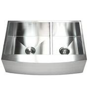 eModern Decor Ariel 33'' L x 22'' W Double Basin Farmhouse Kitchen Sink