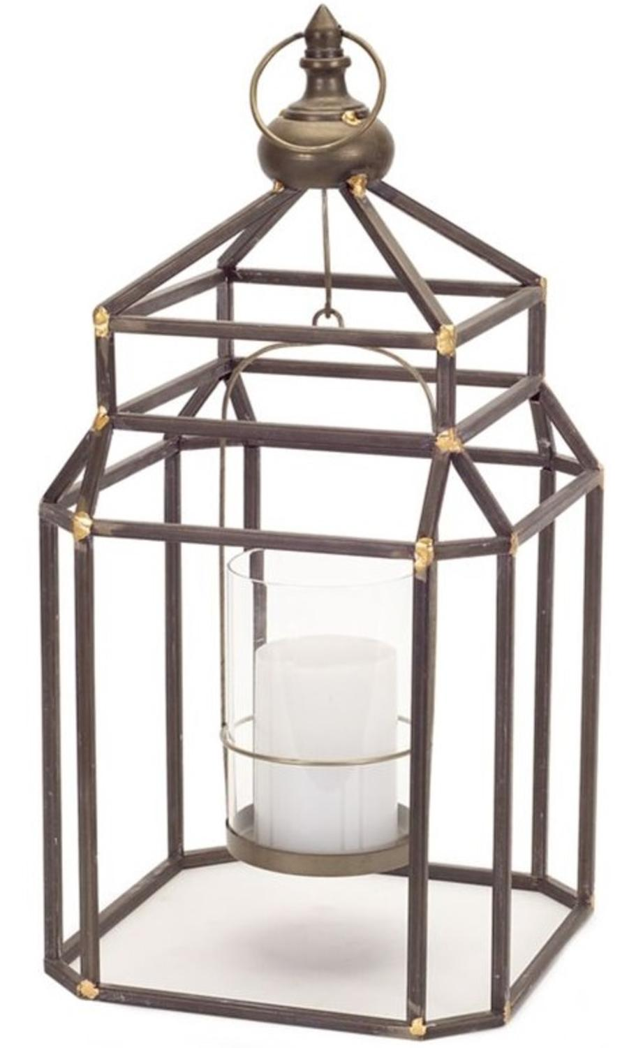 Pack of 2 Decorative Contemporary Geometric Metal 21.5�H Hanging Lanterns by Melrose