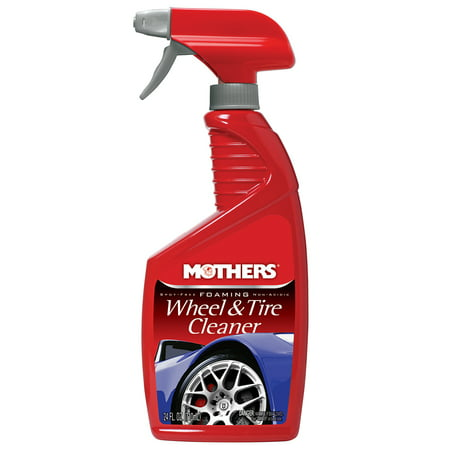 Mothers Polish 5924 24 Ounce Bottle of Foaming Automobile Wheel & Tire Cleaner