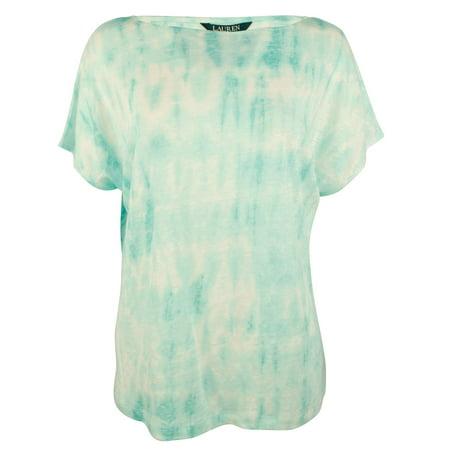 Ralph Lauren Womens Tie-Dye Basic T-Shirt multi XL