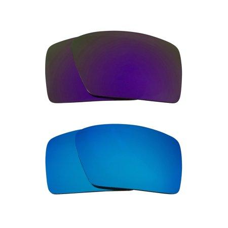 698917d493 Eyepatch 2 Replacement Lenses Blue   Purple by SEEK fits OAKLEY Sunglasses
