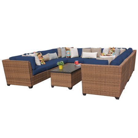 tuscan 11 piece outdoor wicker patio furniture set 11a