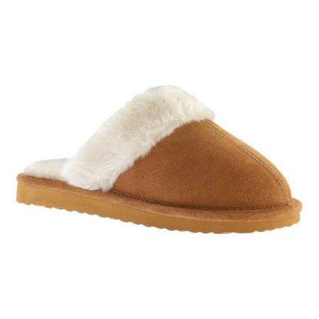 Portland Boot Company Furry Scuff Slipper (Women's) r9OCte