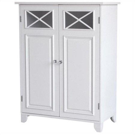 Miraculous Elegant Home Fashions Dawson 2 Door Floor Cabinet In White Home Interior And Landscaping Staixmapetitesourisinfo