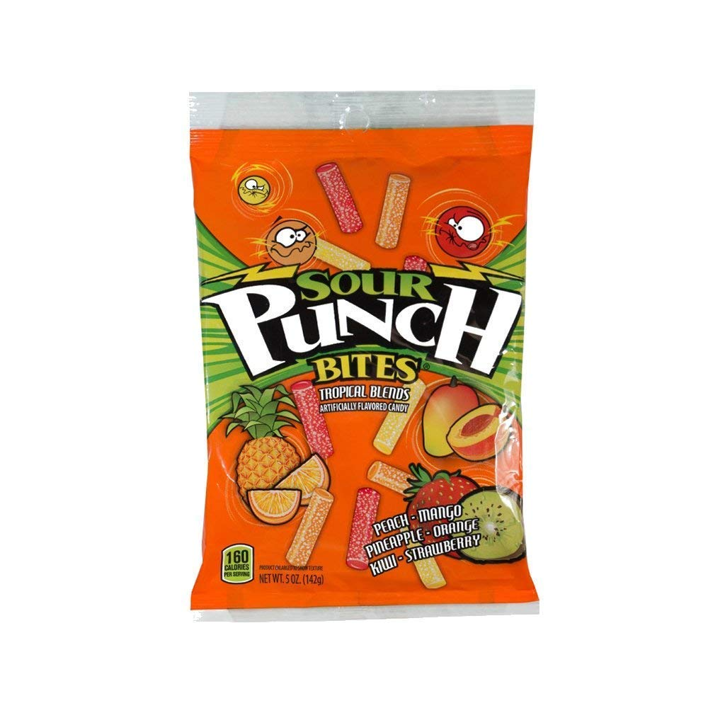 Sour Punch Bites, Tropical Blends Soft & Chewy Candy, 5oz