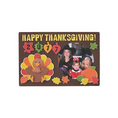 IN-13745205 Thanksgiving Picture Frame Magnet Craft Kit