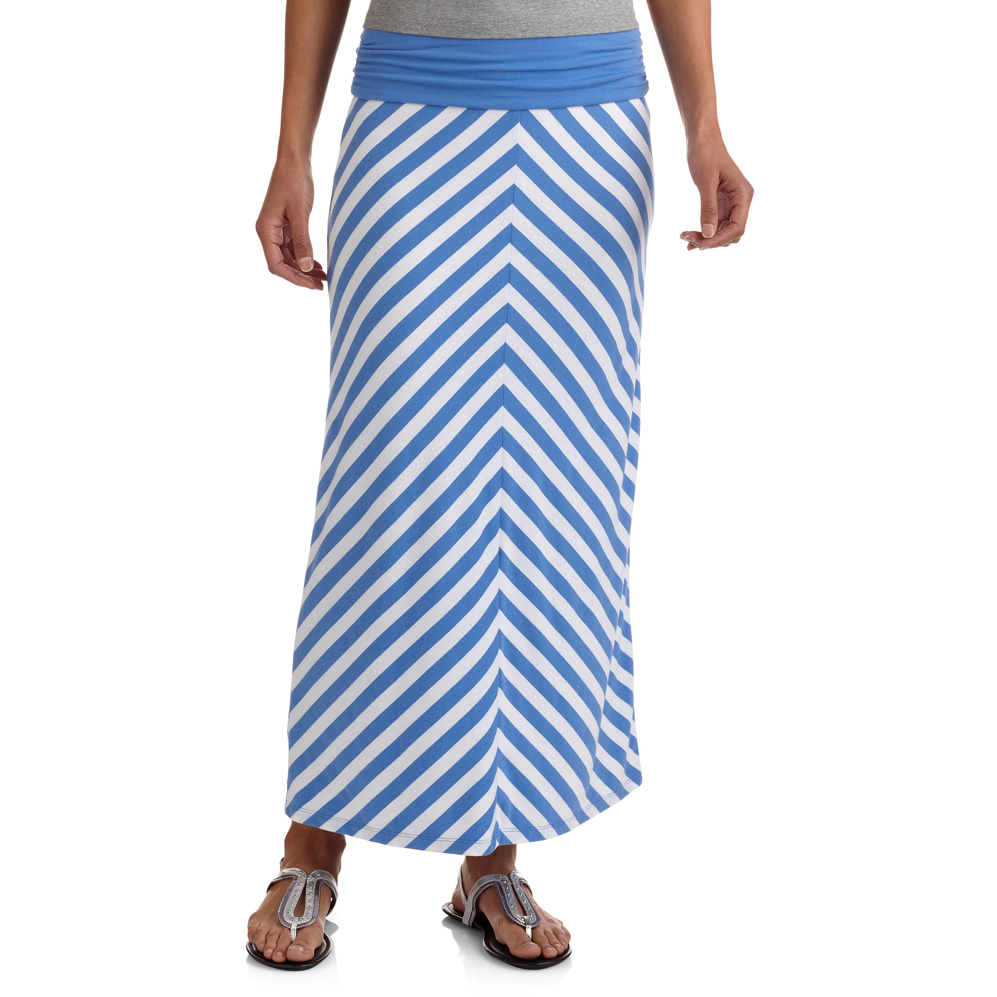 Faded Glory Women's Maxi Skirt with Shirred Waistband