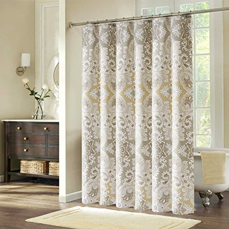 Ufelicity Home Decor Romantic Shower Curtain Paisley Pattern Extra Long Polyester Bath Waterproof And