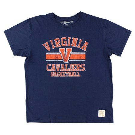 Distant Replays Mens Virginia Cavaliers College Vintage T Shirt Navy Blue