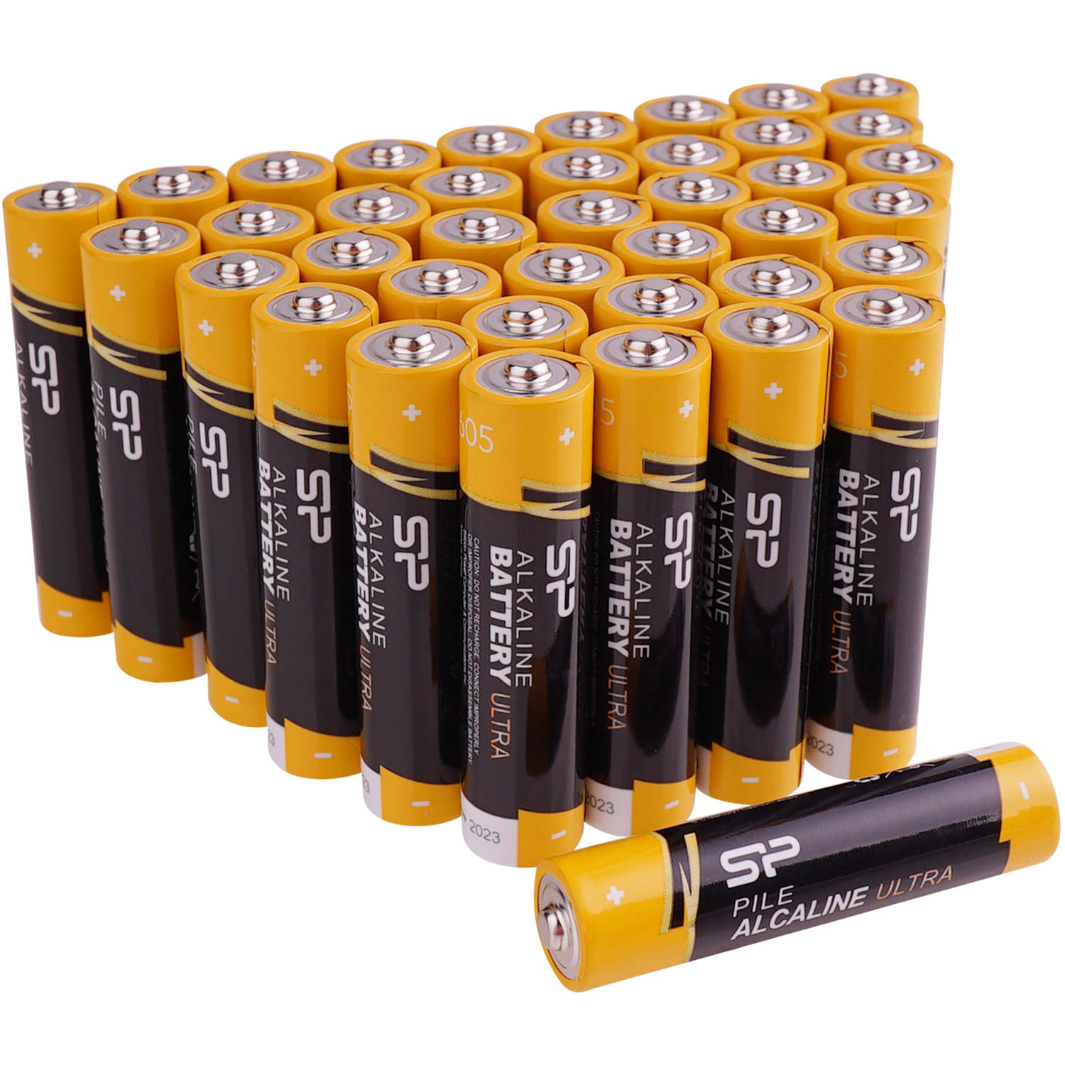 Silicon Power SPAL03ABAT40PV1K AAA Performance Alkaline Batteries, 40-Pack