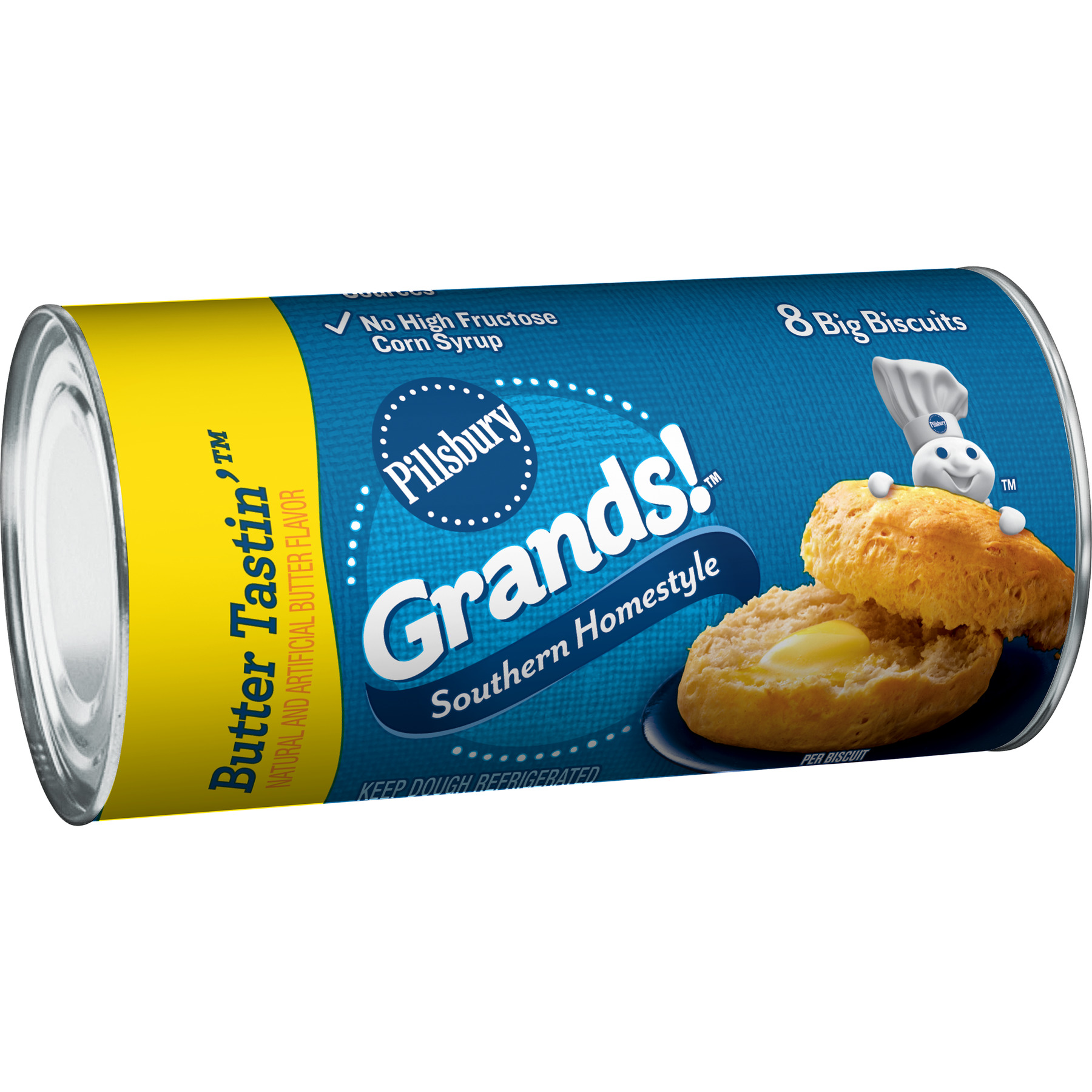 Pillsbury, Southern Homestyle Butter Tastin' Biscuits, 16.3 Oz., 8 Count