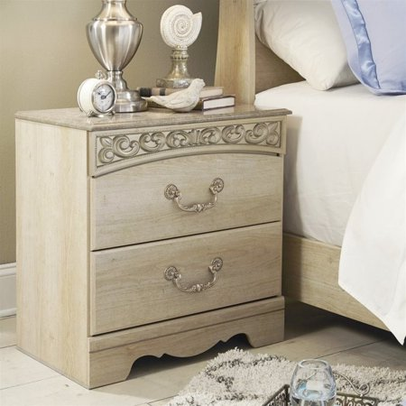 Ashley Catalina 2 Drawer Wood Nightstand in Antique White - image 2 of 2