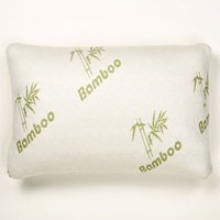 Bamboo Memory Foam Pillow Stay Cool Removable Cover with Zipper Hotel Quality Hypoallergenic Pillow Pain Relieve - Queen Size