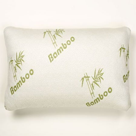 Bamboo Memory Foam Pillow Stay Cool Removable Cover with Zipper Hotel Quality Hypoallergenic Pillow Pain Relieve - Queen (Best Pillow For Neck Pain Reviews)