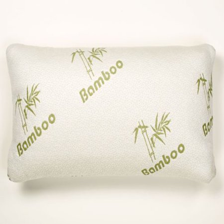 Bamboo Memory Foam Pillow Stay Cool Removable Cover with Zipper Hotel Quality Hypoallergenic Pillow Pain Relieve - Queen Size (Cool Bamboo)