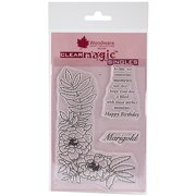 """Woodware Clear Stamps, 5.5"""" x 3.5"""" Sheet, Marigold"""
