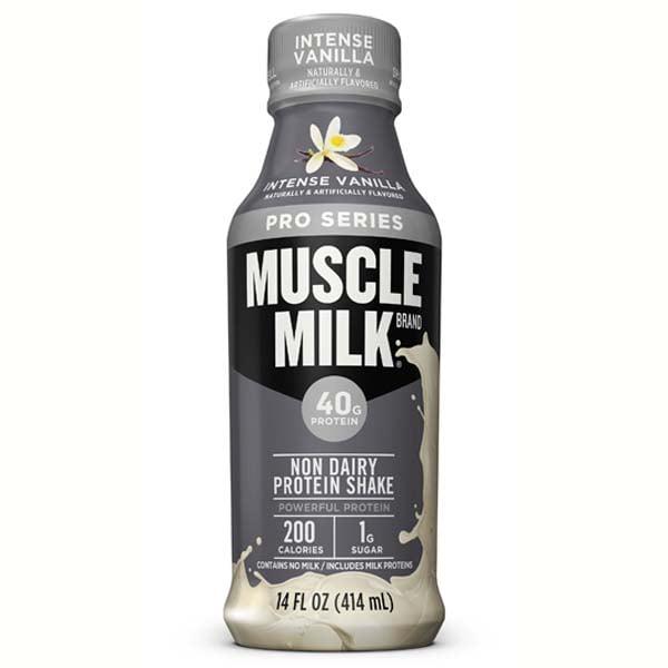 Muscle Milk Pro Series Intense Vanilla Protein Shake 14 Oz Plastic Bottles - Pack of 12