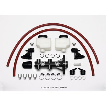 Wilwood Tandem Remote Master Cylinder - 1in Bore Black