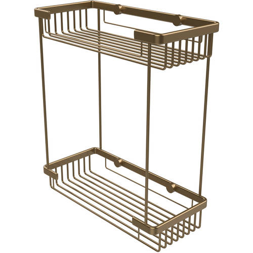 Double Tier Rectangular Toiletry Shower Basket (Build to Order)