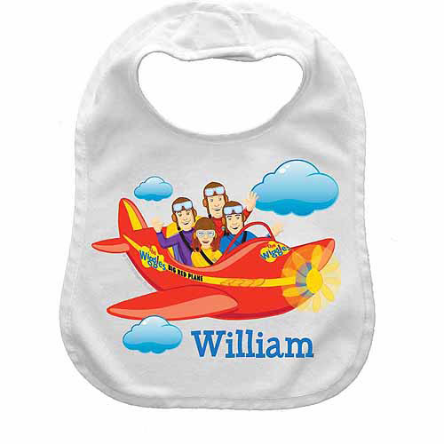 Personalized The Wiggles Big Red Plane Bib
