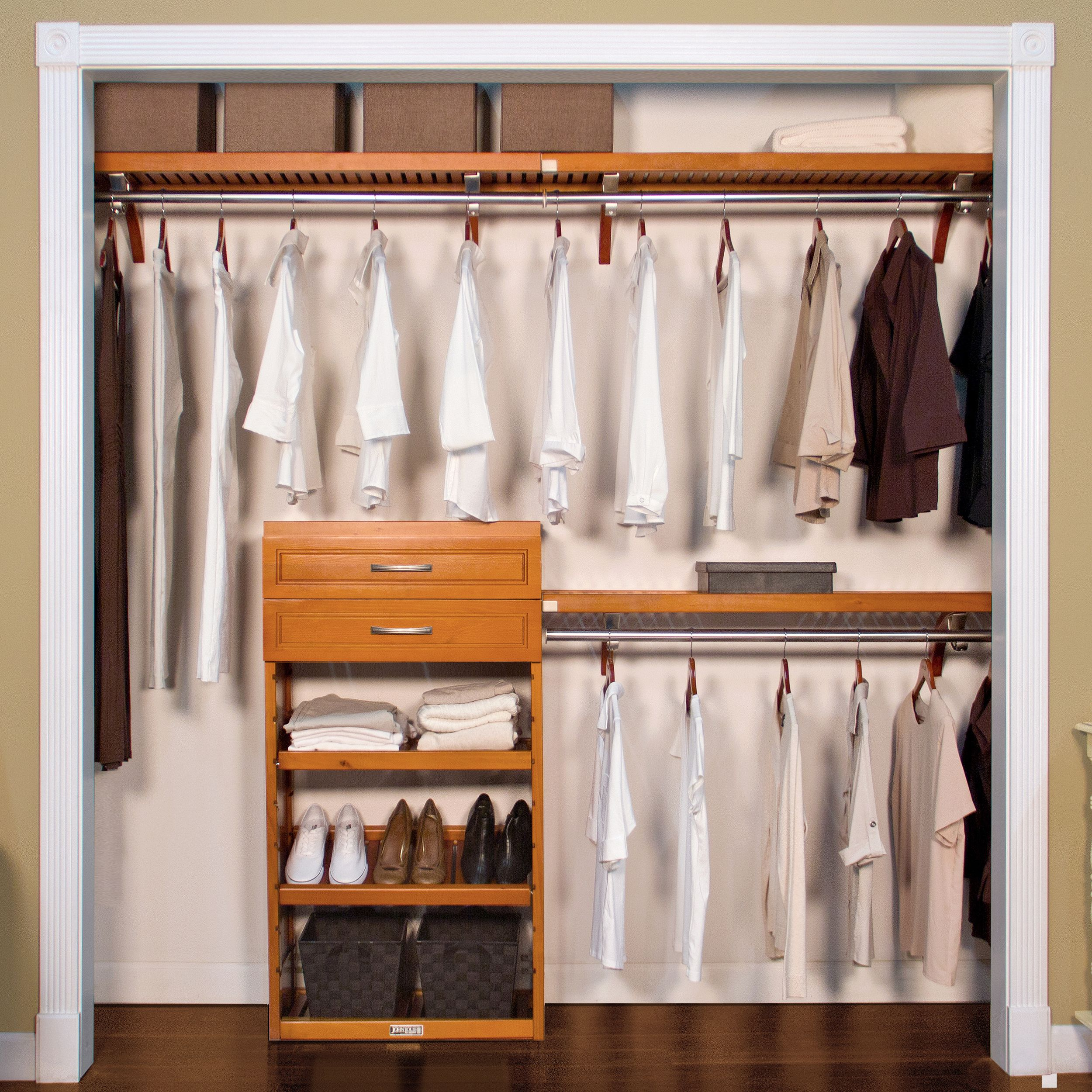 "12"" Woodcrest Closet System-- Carmel Finish"