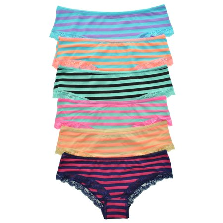 16a9c85d3698 Uni Style Apparel - Uni Style Apparel Womens Plain and Lace Cotton Bikini  Panties 6 Pack or 12 Pack - Walmart.com
