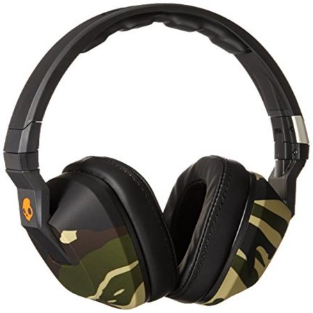 Skullcandy Crusher Headphones With Built In Amplifier And Mic  Camo Slate And Orange