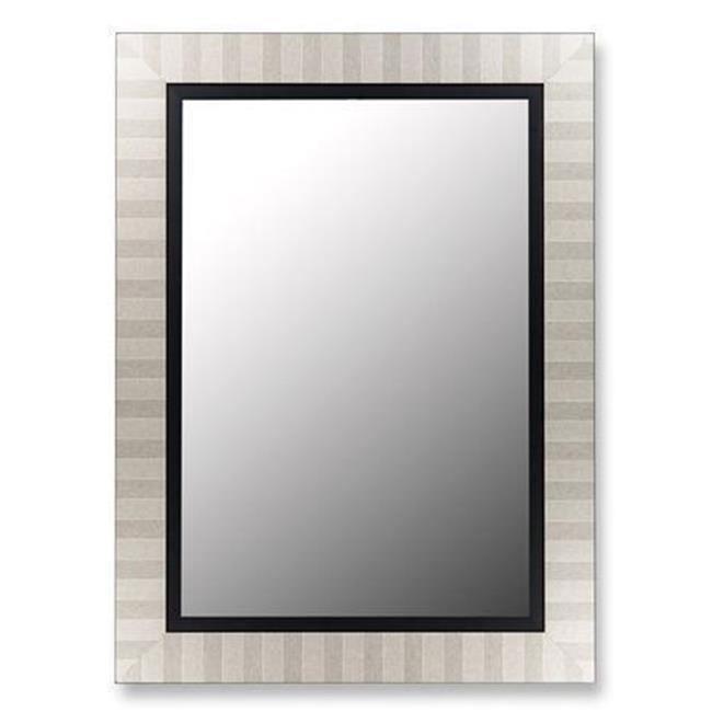 2nd Look Mirrors 253203 38x48 Parma Silver and Satin Black Liner Mirror by 2nd Look Mirrors