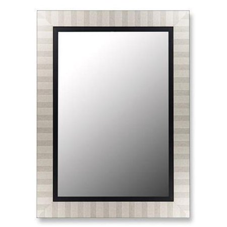 Image of 2nd Look Mirrors 253203 38x48 Parma Silver and Satin Black Liner Mirror