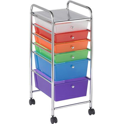 6-Drawer Mobile Organizer, Multi-Colored