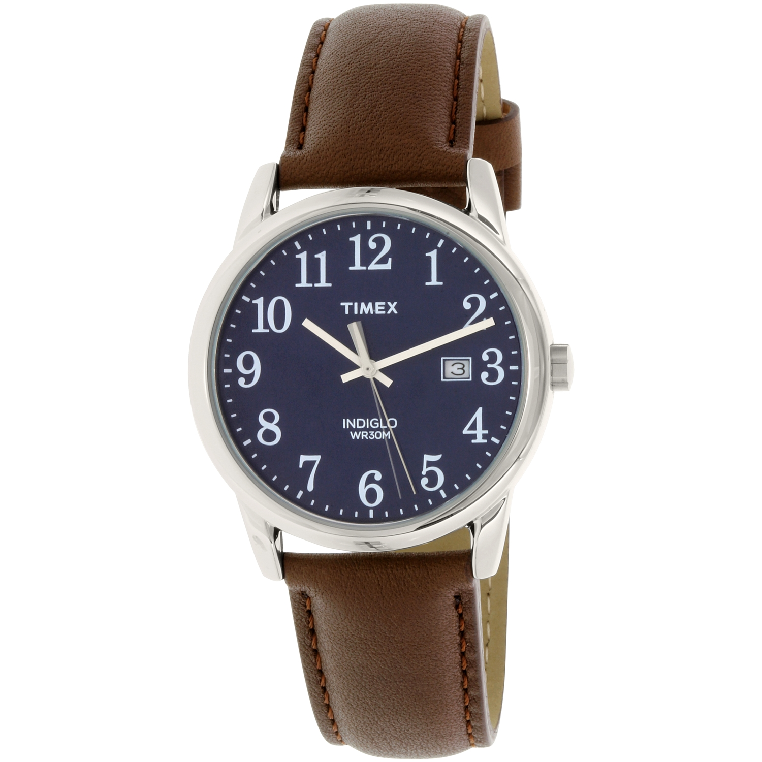 Timex Men's Easy Reader TW2P75900 Brown Leather Quartz Fashion Watch