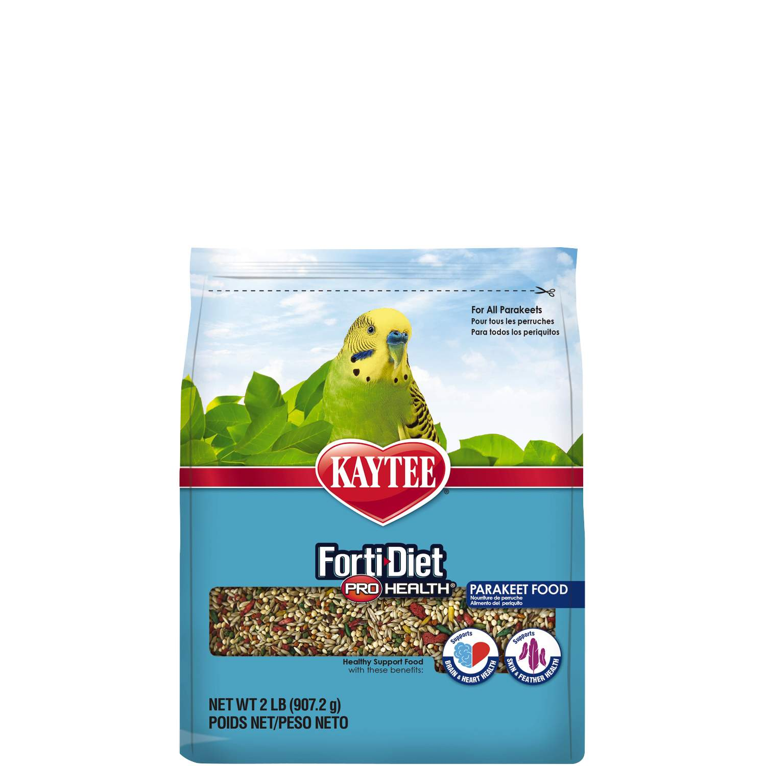 Kaytee Forti Diet Pro Health with Safflower Parrot Bird Food, 2 lb