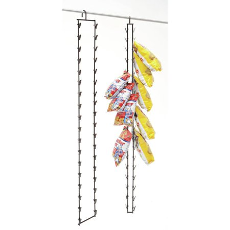 Paulson Chip Rack - Hanging Potato Chip Rack, 36 Clips, Black Metal - 2 1/2 L x 5