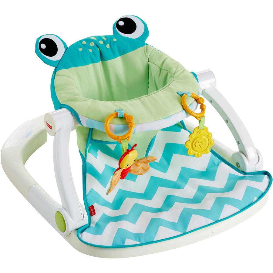 Fisher Price Sit Me Up Floor Seat Citrus Frog Walmartcom