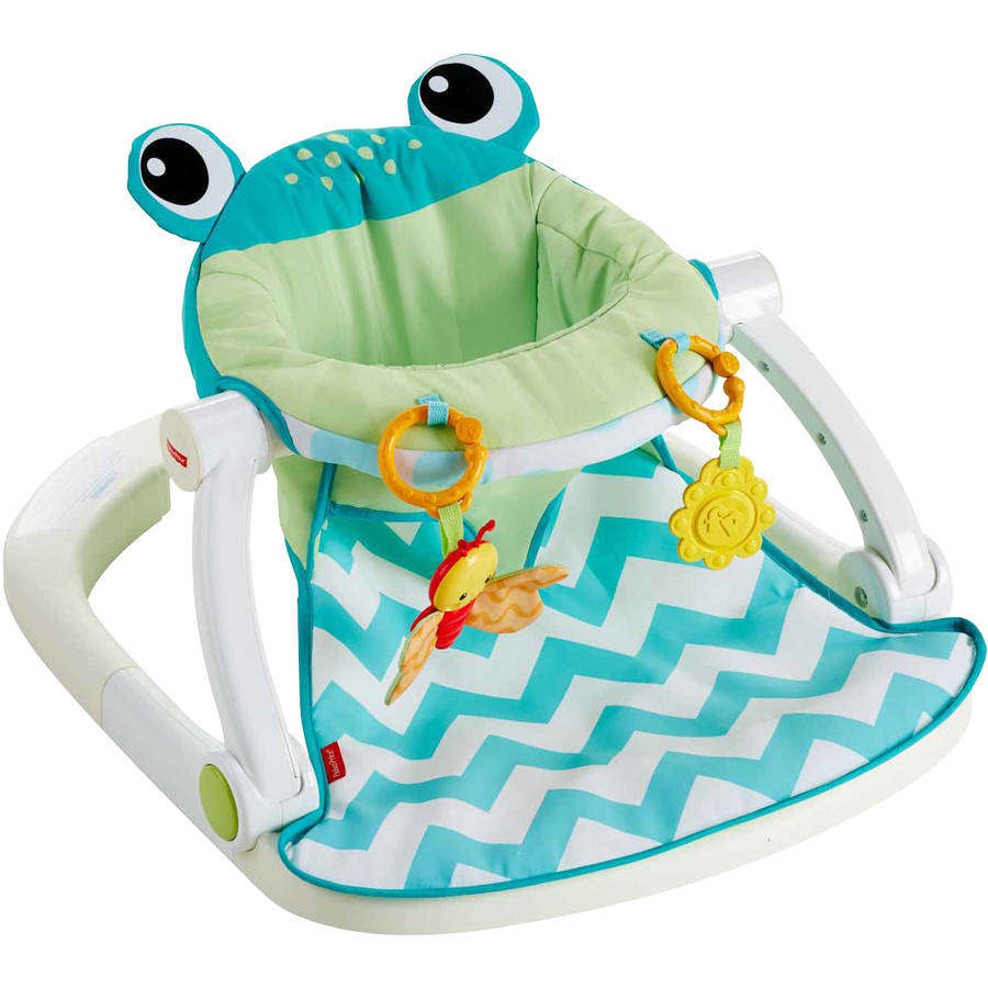 Fisher Price Sit-Me-Up Floor Seat, Citrus Frog