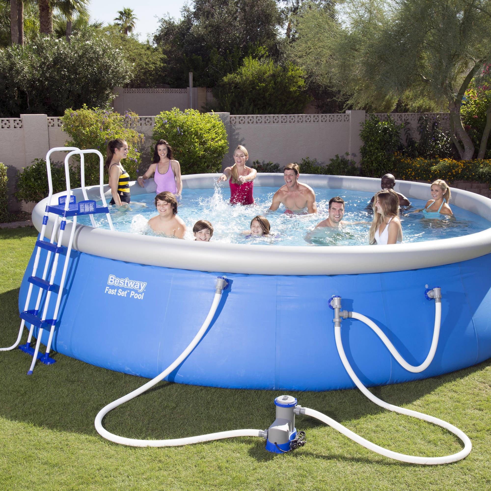 """Bestway Fast Set 18 x 48"""" Swimming Pool Set Walmart"""