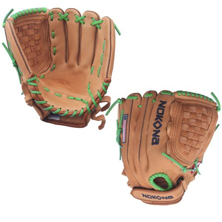 Kelly Lace - Nokona Supersoft 12.5 Inch XFT-V1250-TN Fastpitch Softball Glove - Kelly Green Lacing