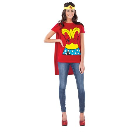 Adult Female Wonder Woman Shirt Costume by Rubies 880475 for $<!---->