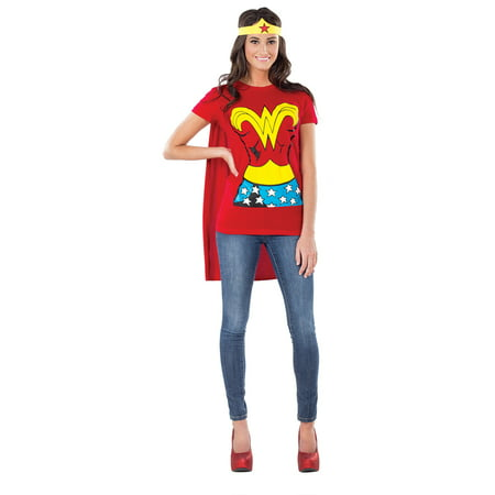 Adult Female Wonder Woman Shirt Costume by Rubies 880475 - Lady Costume Ideas