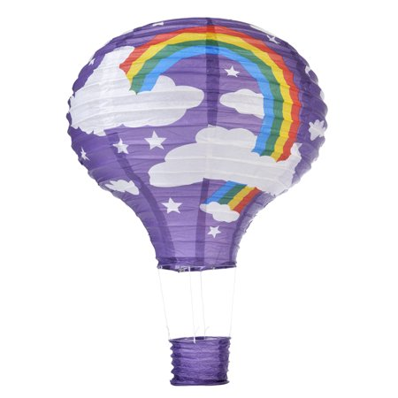 Quasimoon Purple Rainbow Hot Air Balloon Paper Lantern by PaperLanternStore](Balloon Lanterns)
