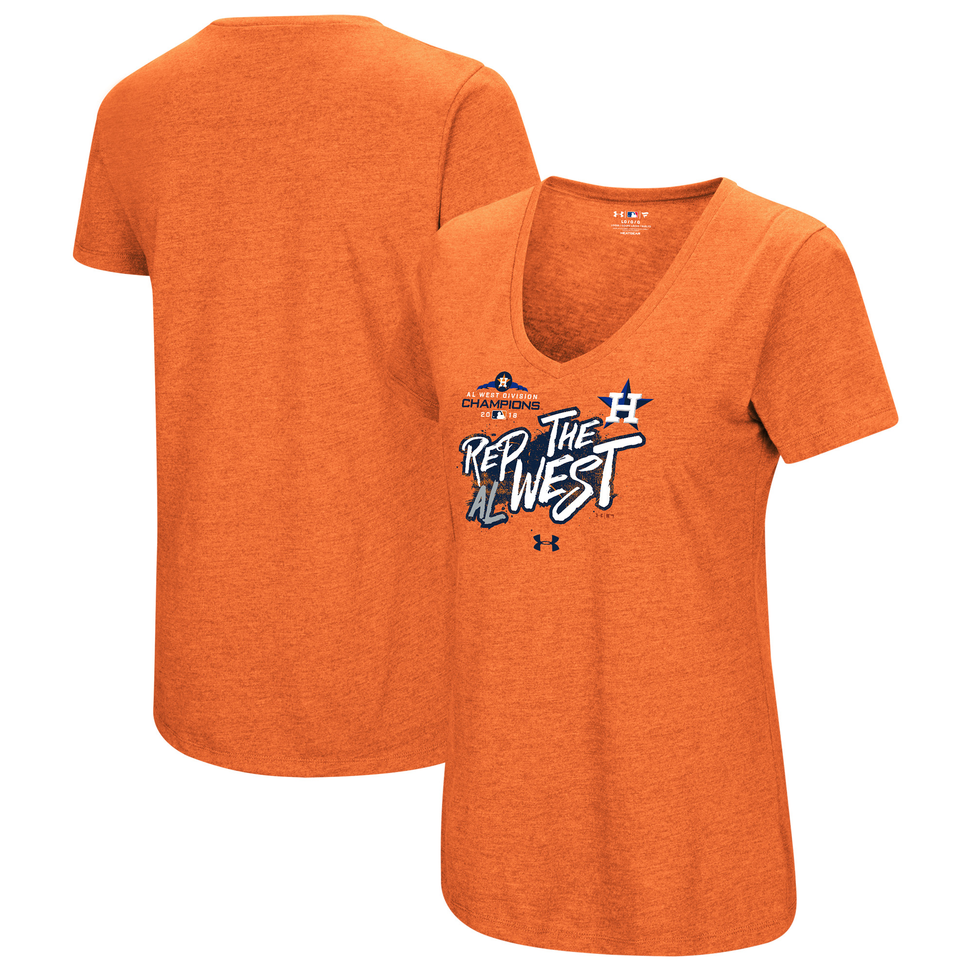 Houston Astros Under Armour Women's 2018 Division Champions City Repping T-Shirt - Heather Orange