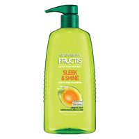 Garnier Shampoo, Frizzy, Dry, Unmanageable Hair, Fructis Sleek & Shine, 33.8 fl. oz.
